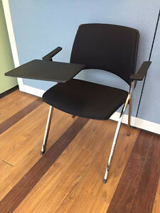 NEW Italian made plastic black seat chair