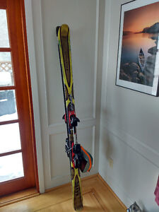 Black Diamond Downhill Skis with skis