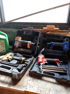 Various pinners and a staple gun for sale