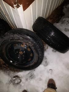2 pneus + rims été