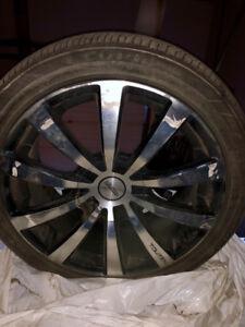 """18""""winter tires on Volkswagen rims"""