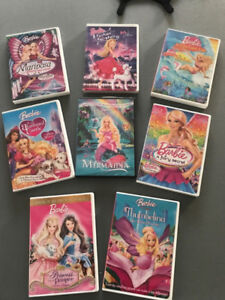 8 Barbie DVD's - ***Great gift***