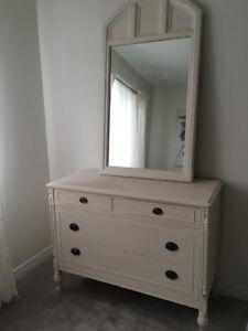Antique Mahogany Dresser (chalk panted)