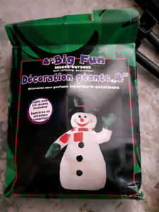 Blow up Snowman and Santa outdoor decoration