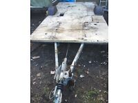 Single axle Galvanised caravan chassis / trailer