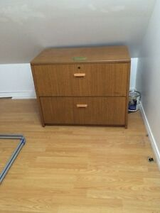 Solid wood 2-Drawer File Cabinet