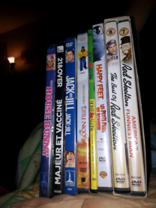 Dvds for sale $2 each and $5 for not open package