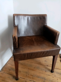 4x Leather Arm Chairs for sale