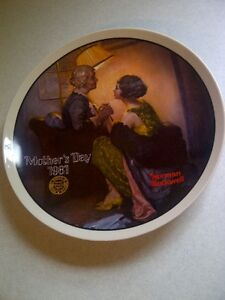 Norman Rockwell Mother's Day Series Collector Plates Bradford