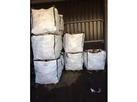 3x BULK BAGS OF DRY LOGS/FIRE WOOD £100