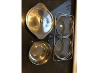 2 Pots and 2 sieves £5 Very Good Condition