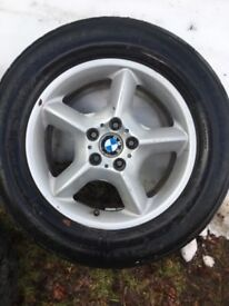 Bmw e53 x5 alloy wheels with winter tyres spare
