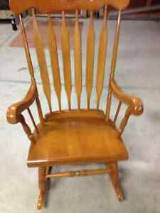 Solid Wood Rocking Chair for sale Windsor Region Ontario image 1