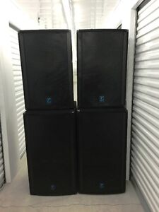 Powerful Yorkville Unity Powered Speakers and Mackie mixer