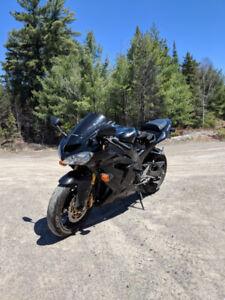 Motorcycle sport bike zx10r