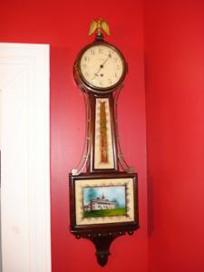 Waltham Banjo Clock, Key Wound, Platform Escapement, WARRANTY