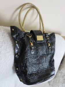 Versace Couture Women Lady Purse Bag Italy Tote Black Bag