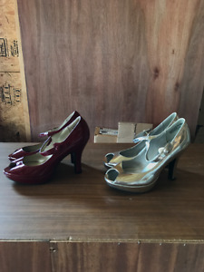 Steve Madden  red pair and silver pair $25 each