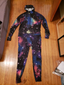 AirBlaster Ninja Suit - Ski Snowboard Base Layer Galaxy Print