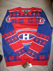 MONTREAL CANADIENS MENS CHRISTMAS SWEATER BRAND NEW W/TAGS