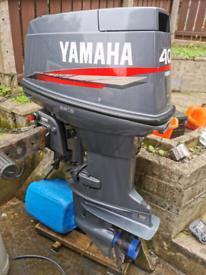 40hp yamaha short shaft outboard boat engine