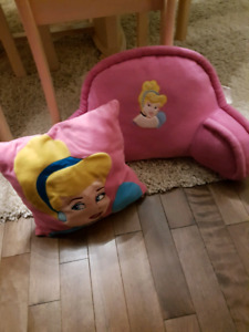 Princess accent pillow and bed pillow