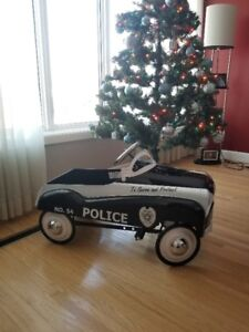 PEDAL CARS - POLICE  FIRE TRUCK & CHECKER CAB GREAT XMAS GIFTS