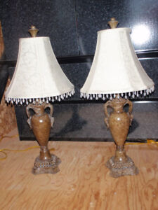 Set of 2 Beautiful Lamp / Lamps Price is for both of them