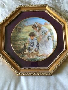 Sandra Kuck FRAMED COLLECTOR PLATE WITH PAPERS