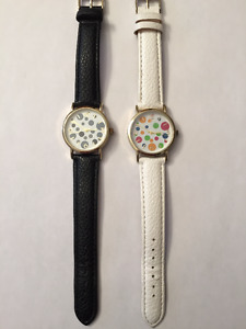 FASHION WATCHES.  ONE BLACK. ONE WHITE.