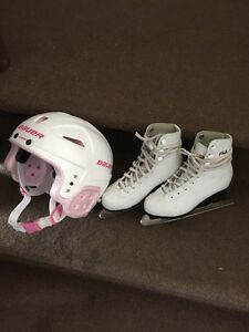 SIZE 12 FILA SKATES AND HELMET
