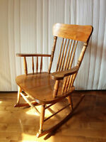 Handmade Rocking Chair, solid wood, excellent condition