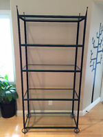 Gorgeous Metal and Glass Shelving/Display Unit