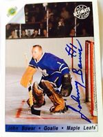 Toronto Maple Leafs Johnny Bower autographed card
