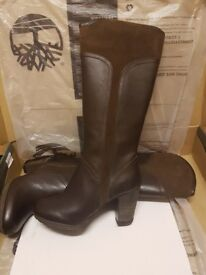 BRAND NEW IN BOX Geniune Timberland Brown Leather & Suede Knee High Boots