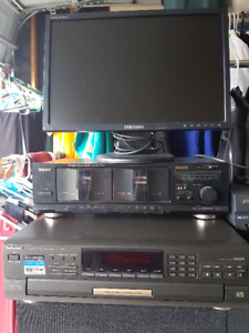 5 Change CD Player, Dual Cassette Deck and Monitor for Sale