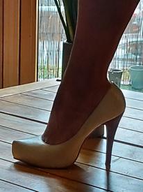Cream stilettos