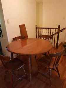 Solid wood table with 4 chairs  $80