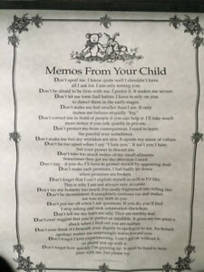 Memos from Your Child - Poster