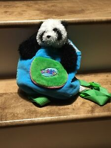 Webkins stuffed animal carrier and panda  Peterborough Peterborough Area image 1