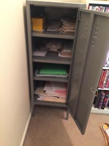 Grey Metal Locking Cabinet