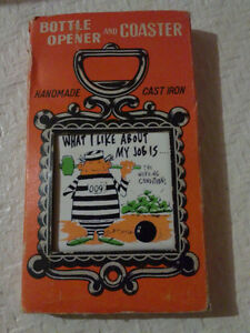 Vintage tile graphics quote coaster bottle opener Brand new London Ontario image 1
