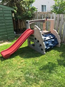 Little tikes, slide, climbing play structure