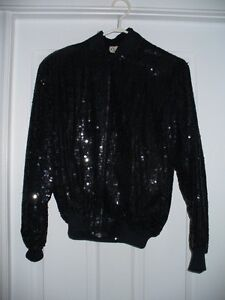 Black sequenced jacket size 14 -16 youth