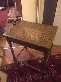 Beautiful French cane side table occasional or lamp table