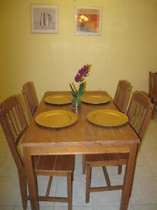 Ikea Dining Room Table with 4 Chairs