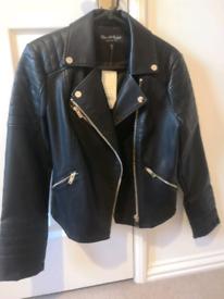 Brand new Size 10 Miss Selfridge faux leather jacket