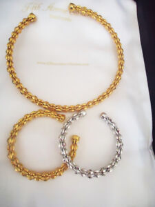 Fifth Avenue Collection - Gold Open Collar Necklace & Bracelet