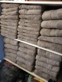 Egyptian cotton towel set beige/camel colour New £8
