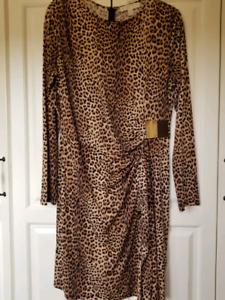 MICHAEL KORS Dress Leopard Print Like New Sz XL